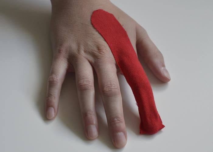 Finger tapen - Schritt 1