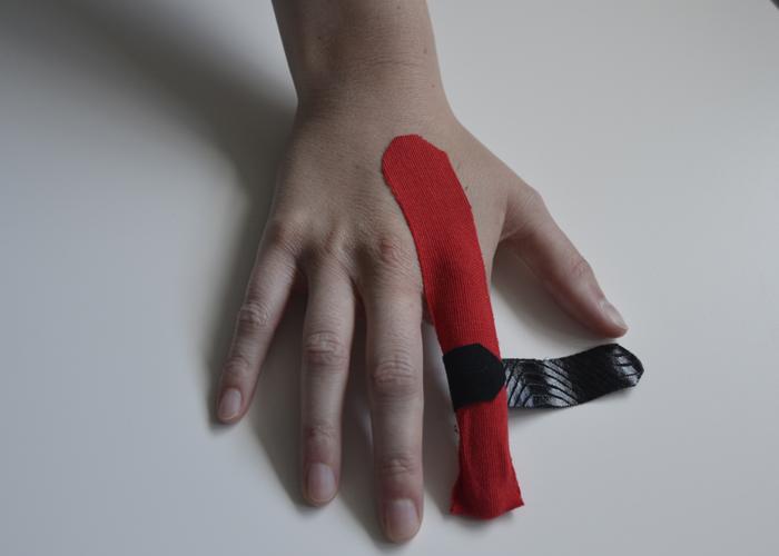 Finger tapen - Schritt 3
