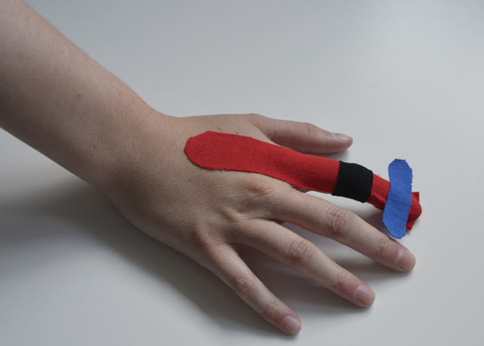 Finger tapen - Schritt 5