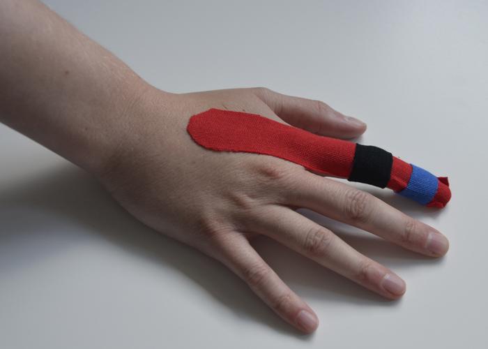 Finger tapen - Schritt 6